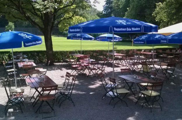 BayernLB Sportarena München Biergarten am englischen Garten