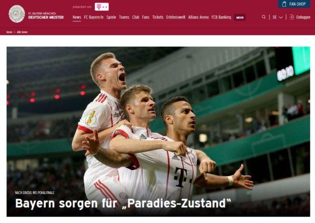 FC Bayern Einzug ins DFB Pokalfinale Bildrechte FC Bayern