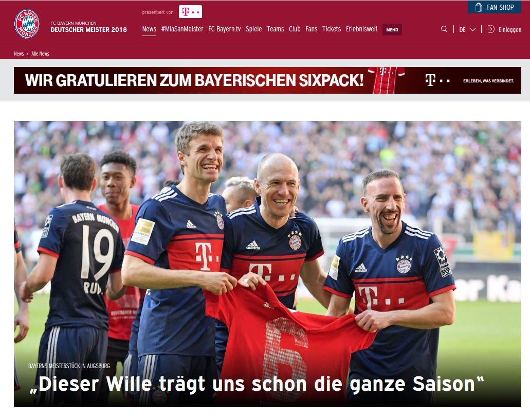 FC Bayern München Deutscher Meister 2018