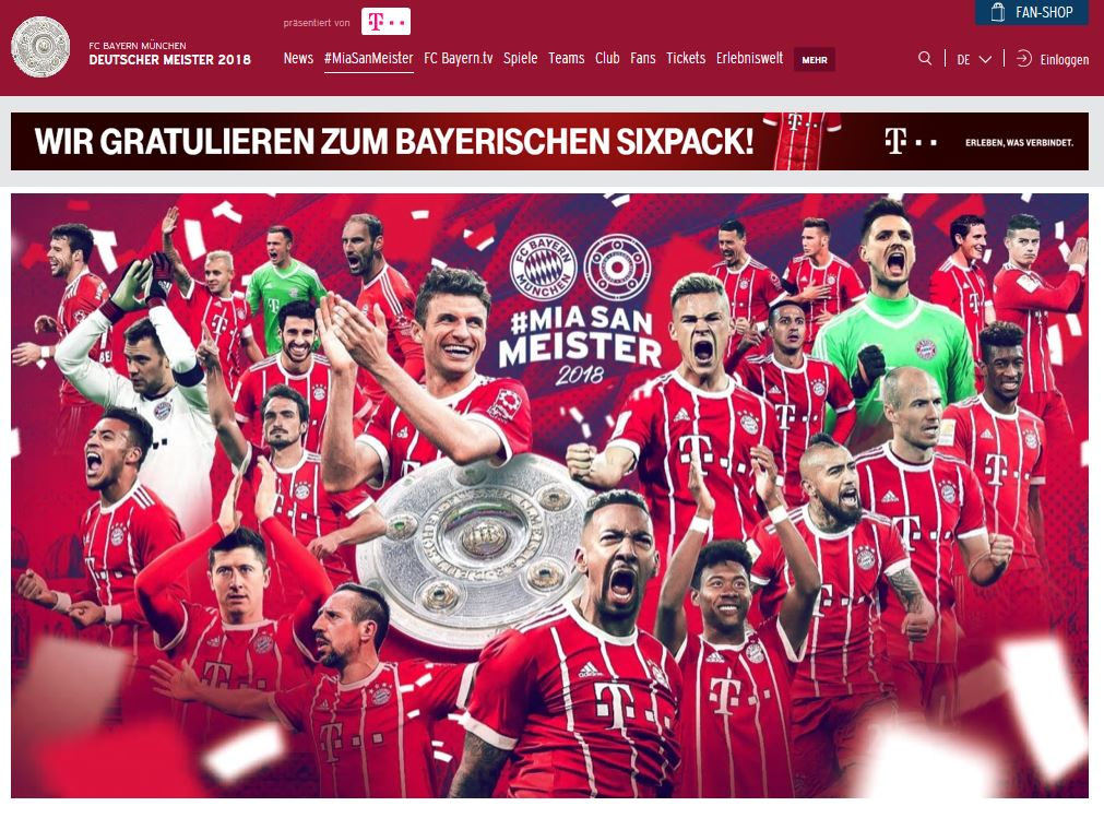 FC Bayern München Mia San Meister 2018